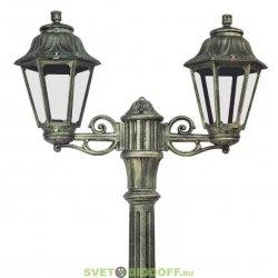 Столб фонарный уличный Fumagalli Nebo Bisso/Anna 2L черненная бронза/прозрачный 2,5м