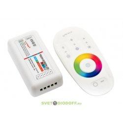 Контролер RGB+W 2.4G сенсорный 4Ch*6A 12/24V Белый