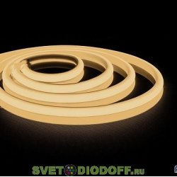 Термостойкая светодиодная лента для бань и саун 80 градусов LS651, 180SMD(2835)/м 14.4Вт/м 5м IP68 12V 3000К теплая