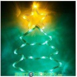 Световая фигура Ёлка 4,5V 15 LED, белый цвет свечения, батарейки 3*АА IP20, 28*40 см, LT052