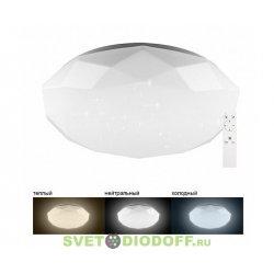 Светодиодный управляемый светильник накладной (тип Stone) AL5200 тарелка 60W 3000К-6500K белый