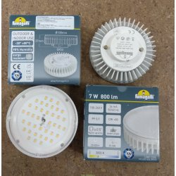 Лампа светодиодная уличная пр-во Италия Fumagalli 220v/7w LED-CMD, GX53, 800lm, 3000К (Фумагали)