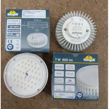 Лампа светодиодная уличная пр-во Италия Fumagalli 220v/10w LED-CMD, GX53, 1200lm, 3000К (Фумагали)