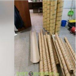 Тубус картонный, толщина стенки 3-5мм для ламп и светильников от 600мм