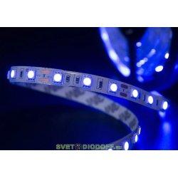 Лента светодиодная эконом 2835, 120 LED/м, 9,6 Вт/м, 12В , IP20, Цвет: Синий
