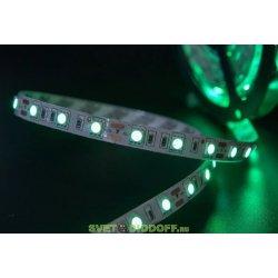 Лента светодиодная эконом 2835, 120 LED/м, 9,6 Вт/м, 12В , IP20, Цвет: Зеленый