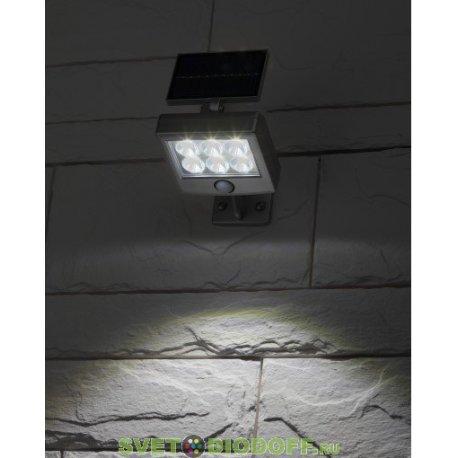Прожектор с датчиком движения, на солнечной батарее, 6LED, 150 lm ERAFS048-08
