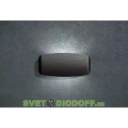 Бра настенное светодиодное двух стороннее Фумагалли ABRAM 270 чёрный, прозр., 1xR7S LED с лампой 1200Lm, 4000К