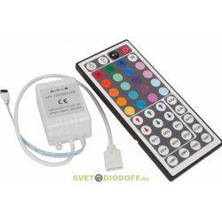 Контроллер для RGB ленты RGB+W-44кнопки 72/144Вт