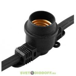 Гирлянда белт-лайт CL50-100 230V черная IP65 кол-во патронов e27 в бобине - 200, расстояние между патронами - 50 см.