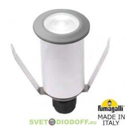 Встраиваемый уличный светильник Fumagalli Teresa цоколь G9, 220 В, 1.7 Вт серый