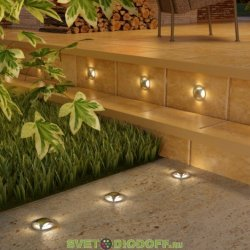 Уличный светодиодный светильник Подсветка для лестниц и дорожек IP65, 3Вт, 50Лм, 4000К алюминий