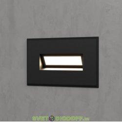 Уличный светодиодный светильник Подсветка для лестниц IP65, 3Вт, 200Лм, 4000К черный