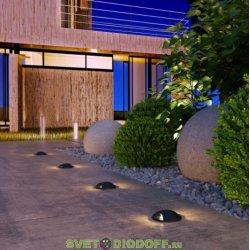 Уличный светодиодный светильник Подсветка для лестниц и дорожек IP65, 3Вт, 55Лм, 4000К черный