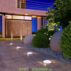 Уличный светодиодный светильник Подсветка для лестниц и дорожек IP65, 3Вт, 55Лм, 4000К белый
