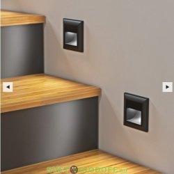 Встраиваемая LED подсветка ступеней, стен 4000К, 1Вт