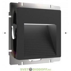 Встраиваемая LED подсветка ступеней, стен 4000К, 1Вт черный