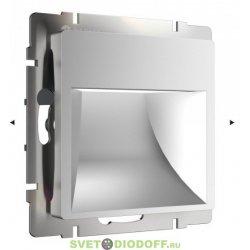 Встраиваемая LED подсветка ступеней, стен 4000К, 1Вт серебряный