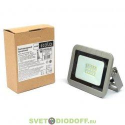 Светодиодный Прожектор тонкий серебристо-серый Ecola Projector LED 10,0W 220V 4200K IP65