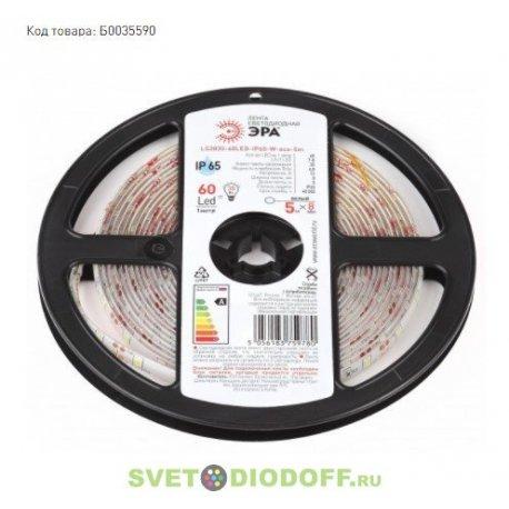 Лента светодиодная LS2835-60LED- 4,8Вт-IP65-W6500К-eco-5m