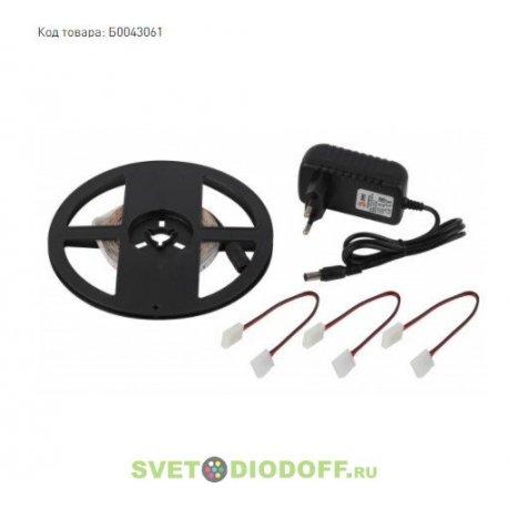 Комплект светодиодной ленты 2835kit-4,8Вт-60LED-12В-IP20-2700-5m