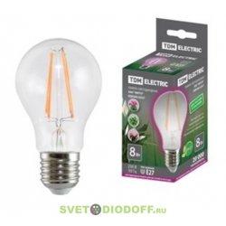 """Лампа светодиодная A60-8 Вт-230 В-E27-CL """"ФИТО"""" 60*108 мм TDM"""