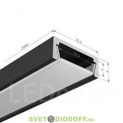 Узкий алюминиевый профиль SD-261, серебристый анодированный 2000х15,2х6мм