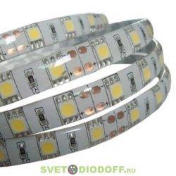 Лента светодиодная SMD5050-60 LED/м-IP65-12 В-14,4 Вт/м-6000 К (5 м) TDM