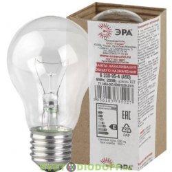 Лампа накаливания ЭРА A50 (груша) 40Вт 230В E27 прозр. в гофре.Б 230-40-4