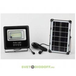 Прожектор светодиодный уличный на солн. бат. 50W, 360 lm, 5000K, с датч. движения, ПДУ, IP65