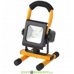 Прожектор светодиодный уличный 10Вт 900Лм 6500K аккум 2,5ч LPR-10-6500K-А-M