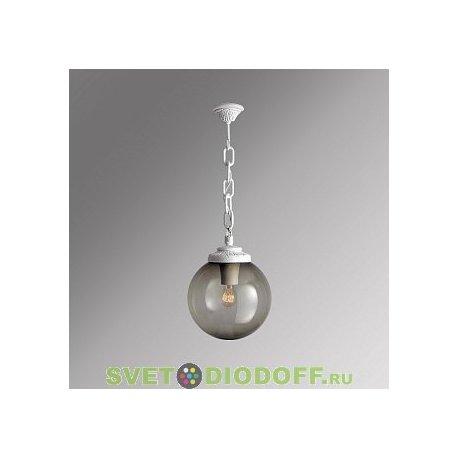 Уличный подвесной светильник Шар Fumagalli Sichem/GLOBE 250 белый, дымчатый