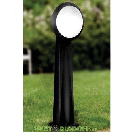 Уличный фонарь столб Fumagalli Gabri/Lucia 1L 1.0м черный, опал синий ореол