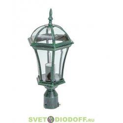 Садовый венчающий на столб светильник EL-640P1 Е27 60Вт IP44 старая медь