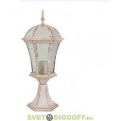 Садовый светильник на подставке EL-640P2 Е27 60Вт IP44 белый с золотом