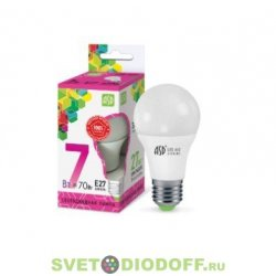 Лампа светодиодная LED-A60-standard 7Вт 230В Е27 6500К 630Лм ASD