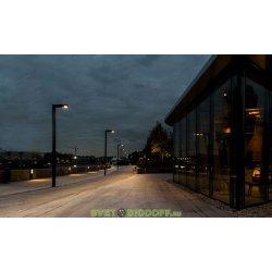 Светодиодный светильник Парк Г-образный 30Вт, 3000К, 4800Лм, IP67, 3000-500 мм анод. черный алюминий 3,0м.п.