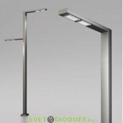 Светодиодный светильник Парк Г-образный 50Вт, 4000К, 8200Лм, IP67, 3020-592 мм анод. черный алюминий 3,0м.п.