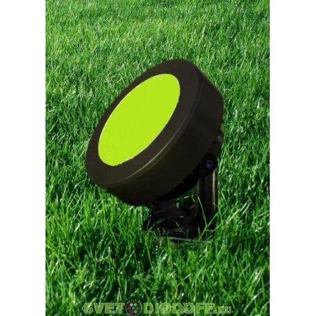 Светильник светодиодный фасадный Fumagalli TOMMY черный, зеленый 1XGX53 LED с лампой 3W