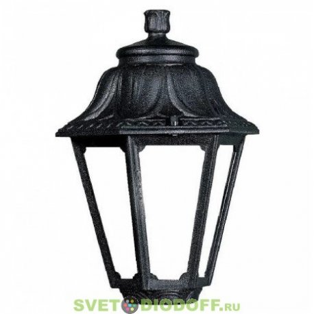 Венчающий светильник ANNA Fumagalli черный/матовый рассеиватель 1xE27 LED-FIL с лампой 800Lm, 4000К