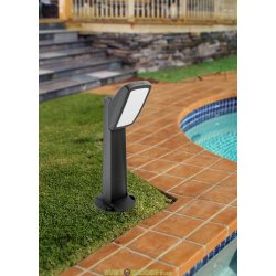 Столбик освещения для сада MINIPINELA 1L черный, опал, 1xE27 LED-FIL с лампой 800Lm, 3000К, 0,64м