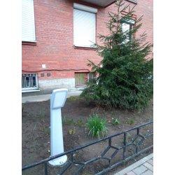 Столбик освещения для сада MINIPINELA 1L серый, опал, 1xE27 LED-FIL с лампой 800Lm, 4000К, 0,64м