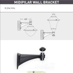 Консоль для паркового фонаря на стену FUMAGALLI MIDIPILAR WALL черный