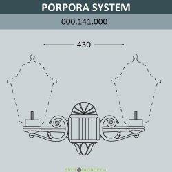 Настенная консоль для паркового фонаря FUMAGALLI PORPORA SYS черный