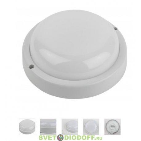светильник светодиодный ЖКХ SPB-201-0-40К-012 IP65 12Вт 4000К КРУГ