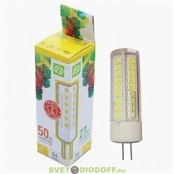 Лампа светодиодная LED-JC-standard 5Вт 12В G4 3000К 450Лм ASD
