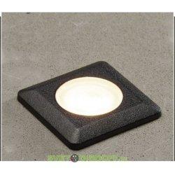 Встраиваемый светильник уличный светодиодный Fumagalli Aldo черный, полупрозр., 1ХG9 LED с лампой 170Lm, 4000К, шт