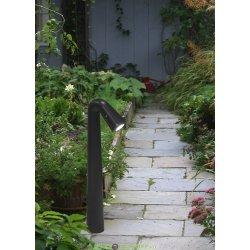 Ландшафтный тротуарный светильник Fumagalli STEVEN черный, прозр., 1xG9 LED с лампой 1,7Вт, 170Lm, 4000К нейтральный, 0,45м.п.