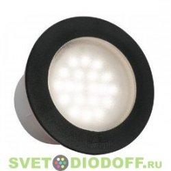 Уличный светодиодный светильник в полотно дорог FUMAGALLI CECI 160 / 10ВТ черный, лампа 3000К теплый