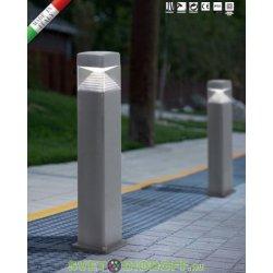 Столб уличный светодиодный FUMAGALLI, ESTER 800 (800x175) 3Вт, 1xGX53 LED с лампой 350Lm, 4000К, серый, прозрачный 0,8м